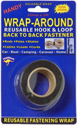 Buy 12mm & 25mm Wrap-Around Back to Back Self Gripping Hook & Loop VELCRO® Style Fastener in a convenient 2 Metre Packet Online at Bargain Box
