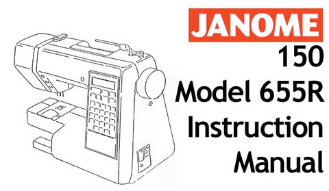 Buy your Janome New Home 150 Model 655R Sewing, Machine, User, Instruction, Manual, Handbook, Download Online at Bargain Box
