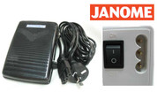 Buy your Foot Control Pedal with Lead Cord Cable and Plug to fit Janome Sewing Machines from Bargain Box