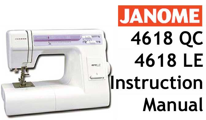 buy your janome 4618 4618le or 4618qc sewing machine user rh bargainbox com au janome sewing machine #344 manual janome 344 instruction manual