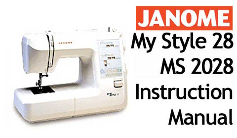 buy your janome my style 28 or ms 2028 sewing machine user rh bargainbox com au Janome Sewing Machine Tutorial janome my style 20 instruction manual