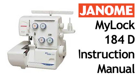 buy your janome new home mylock ml 184 d overlocker serger sewing rh bargainbox com au janome mylock 203 manual free download Janome MyLock 134D