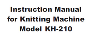 Buy your Brother KH210 Knitting Machine, User, Instruction, Manual, Handbook, Download Online at Bargain Box