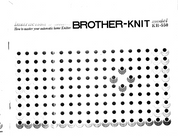 Buy your Brother KH550 Knitting Machine, User, Instruction, Manual, Handbook, Download Online at Bargain Box
