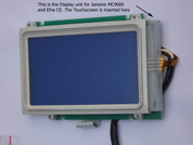 Touch Screen as it appears when fitted  Buy your Janome Memory Craft MC9000 Replacement LCD Touchscreen, Online at Bargain Box