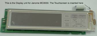 Buy your Janome Memory Craft MC8000 Replacement LCD Touchscreen, Online at Bargain Box