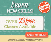 Check out all of Craftsy's FREE Mini-Classes Right Here via Bargain Box !