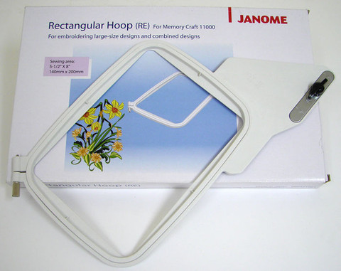 Buy your Janome RE Hoop (Suits MC11000, 11000SE and for use with Baseball Hat Hoop Insert) Online at Bargain Box