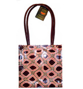 Buy your 100% Genuine leather tote bag Iwantja Design - Colour Plum 26cm x 26cm by Kanakiya Tjanyari at Bargain Box