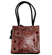 Buy your 100% Genuine leather tote bag Iwantja Design -  by Maringka Burton in colour Chocolate at Bargain Box