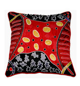 Buy your Appliqué & Embroidery Cushion Cover in Red by Bridgette Wallace at Bargain Box