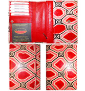 Buy your 100% Genuine Leather Wallet Purse Iwantja Scarlet by Kanakiya Tjanyari at Bargain Box