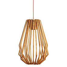 Nordic Tall Wood Nest Pendant Light