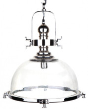 Conroy Industrial Polished Nickel Spotlight Pendant