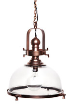 Conroy Industrial Antique Copper Spotlight Pendant