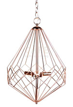 Portland Gold Plated Wire Pendant Light in Small Size