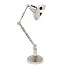 Redman Silver Nickel Desk Lamp