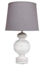 Alabaster White Wash Polyresin Table Lamp