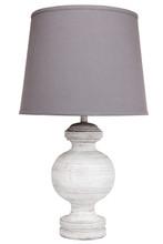 Alabaster White Wash Polyresin Table Lamp