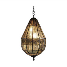 Portobello Bronze Glass Pendant Chandelier