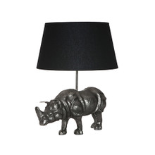 Antique Silver Rhino Lamp Base