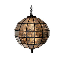 Bronze And Mercury Glass Pendant Light