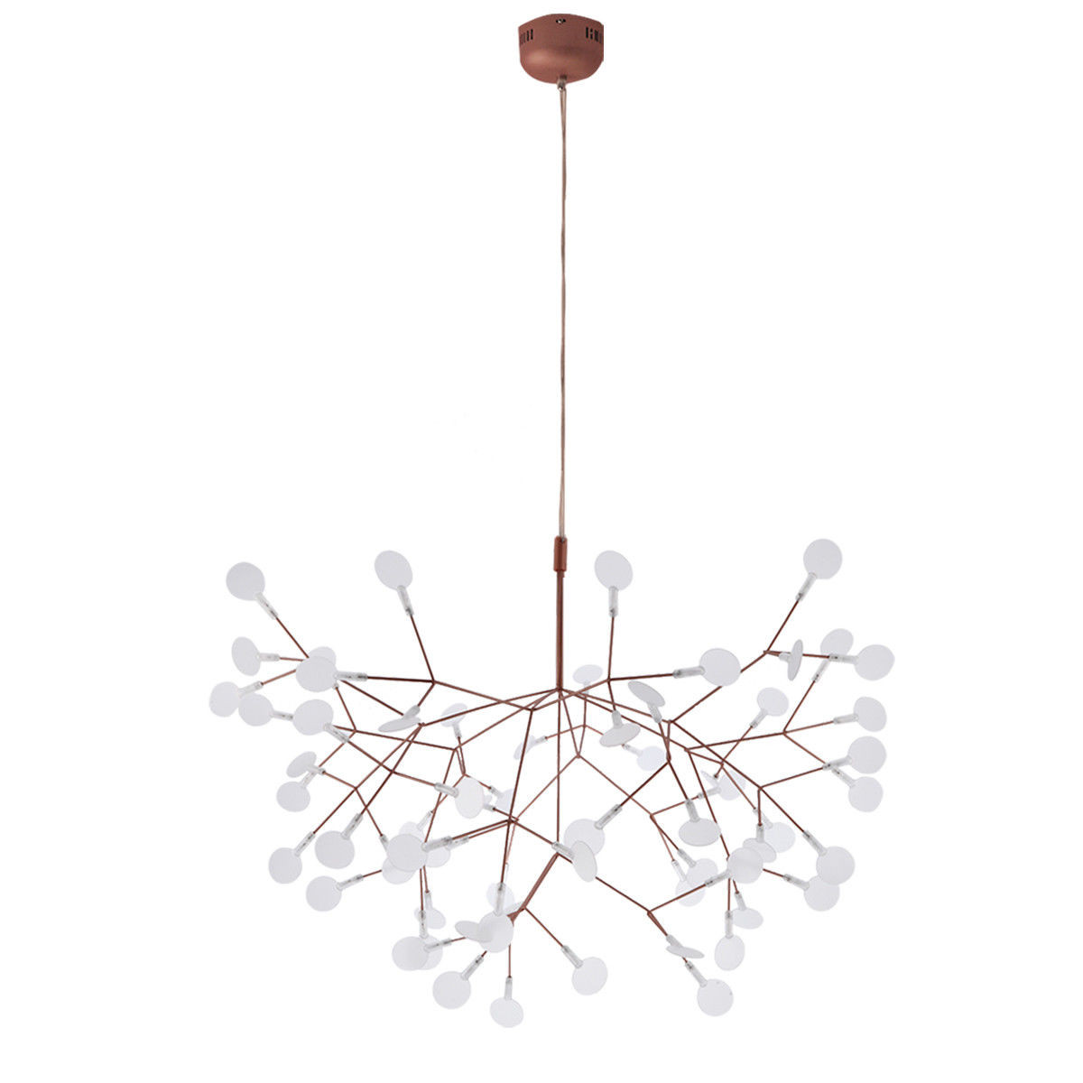 image copper light large coretto eglo polished pendant