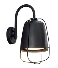 Hink Caged Wall Light - Matte Black