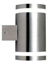 Modern Metro Up Down Pillar Exterior Wall Light - Stainless Steel