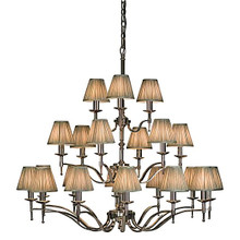 Stanford 21 Light Polished Nickel Chandelier