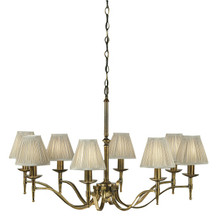 Stanford 8 Light Brass Chandelier