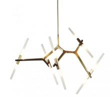 Replica Lustre 10 Bulb Agnes Pendant Light in Brushed Brass