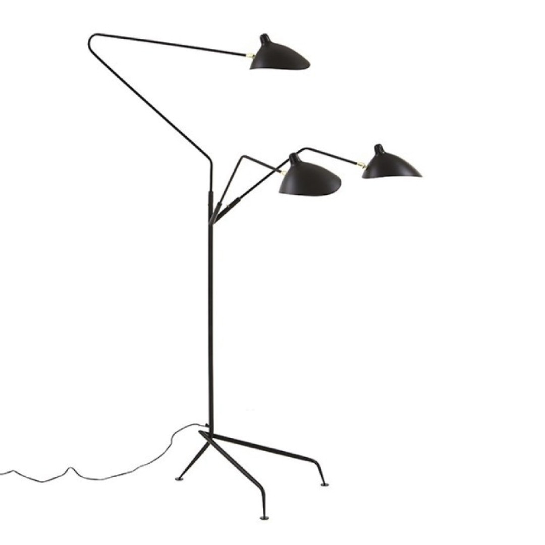 Replica serge mouille three arm standing floor lamp zest lighting replica serge mouille three arm standing floor lamp loading zoom aloadofball Gallery