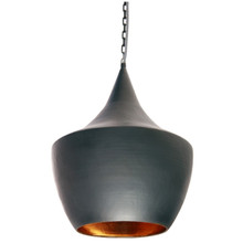 Beaten Copper Pagoda Pendant Light