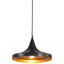 Beaten Copper Hat Sing Pendant Light