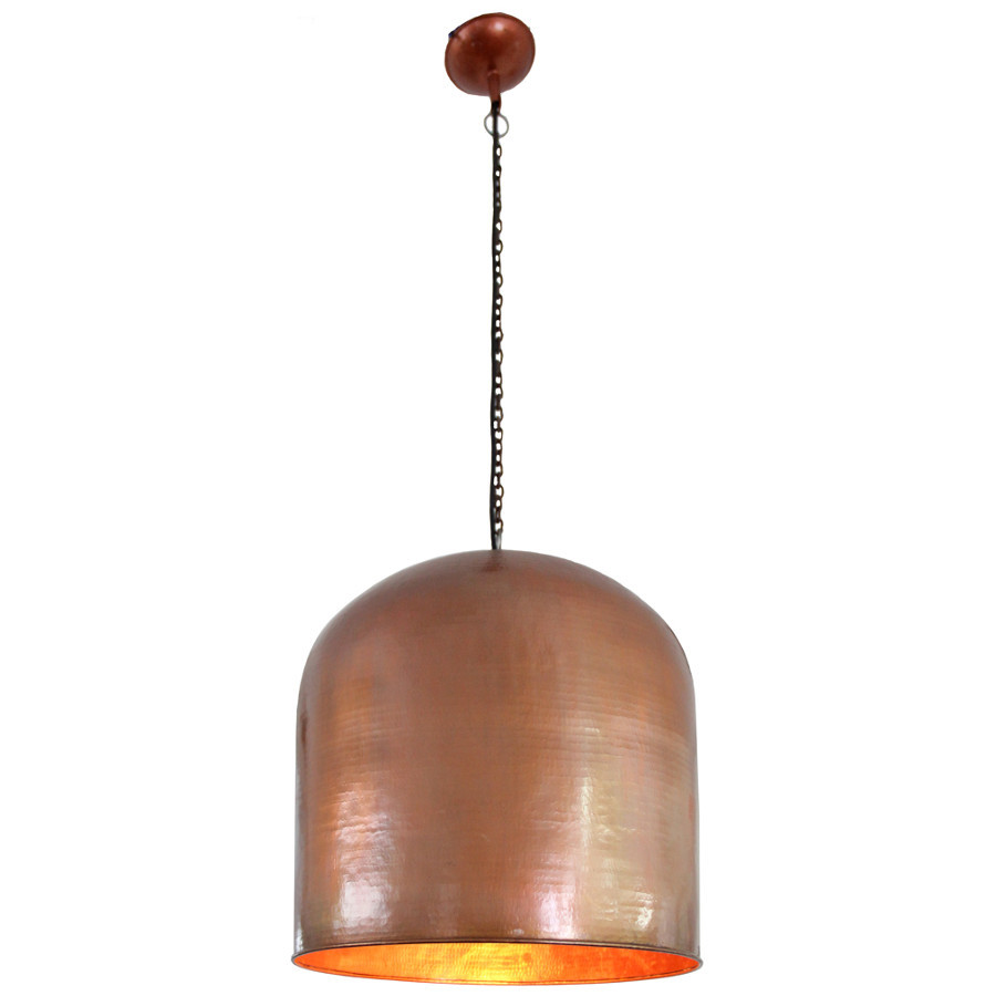 taupe rust grey dome lead en pendant myplanetled light