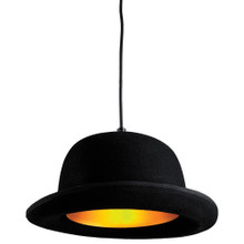 Black Bowler Hat Pendant Light - Thumbnail