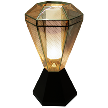 Gold Table Lamp Perf Mesh