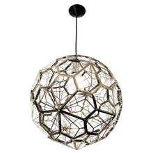 Pentagonal Chrome Pendant Light