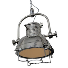 Industrial Chrome Pendant Light