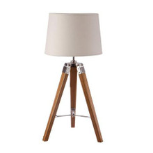 Nautical Marine Wooden Tripod Table Lamp