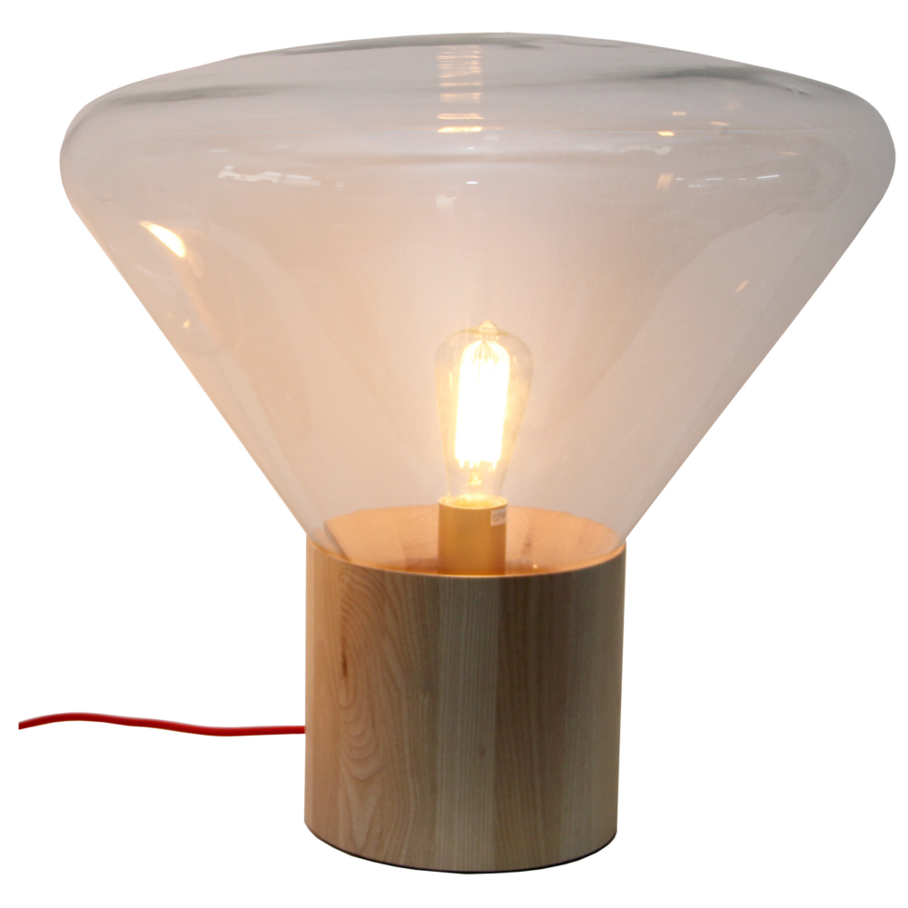replica muffin wood table lamp zest lighting. Black Bedroom Furniture Sets. Home Design Ideas