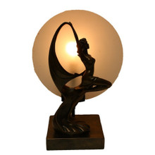 Contemporary Dancing Lady Art Deco Lamp