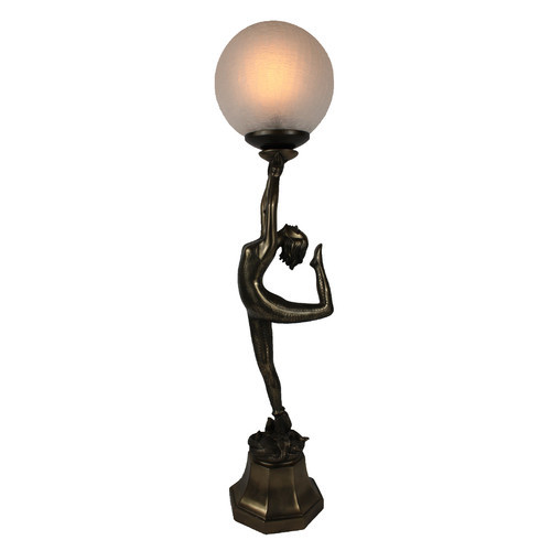 Delightful Dancing Lady Art Deco Table Lamp. Loading Zoom
