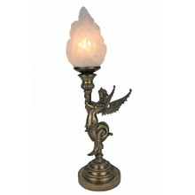 Winged Siren Art Deco Lamp