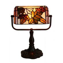 Floral Banker Lamp
