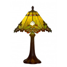 32cm Green Butterfly Art Glass Table Lamp