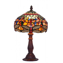 20cm Fire Dragonfly Art Glass Table Lamp