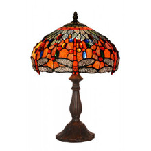 30cm Fire Dragonfly Art Glass Table Lamp