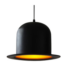 Replica Metal Jeeves Bowler Hat Pendant Light
